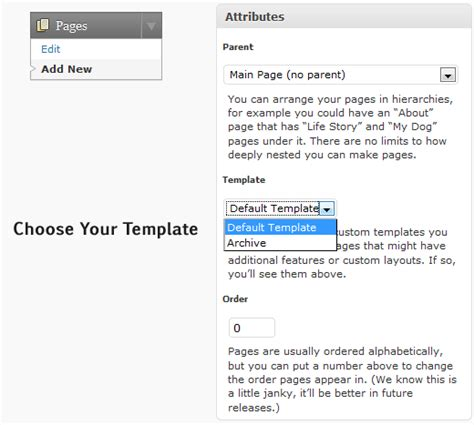 how to create a custom page template in wordpress web toasts