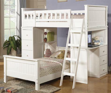 White Loft Bed by Hayden White Loft Bed Set With Desk