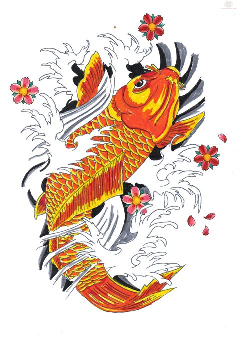 japanese tattoo koi designs koi sketch