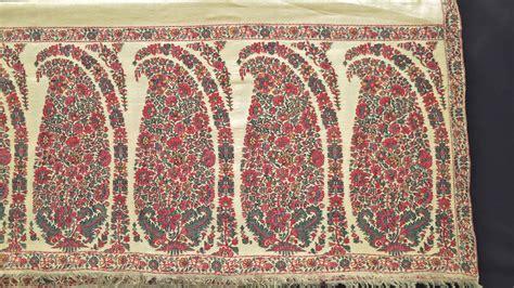 Pashmina Manohara Motif 1 160 Antique Kani Kashmir Shawl Ecru Dochalla Near Mint