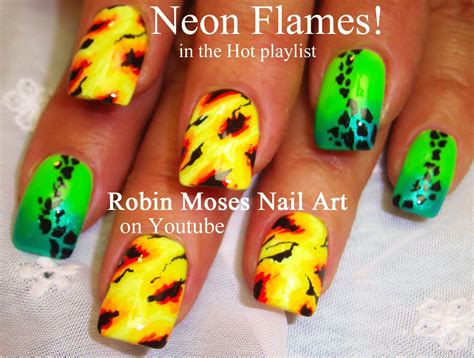 easy nail art neon robin moses nail art neon summer ombre splatter paint