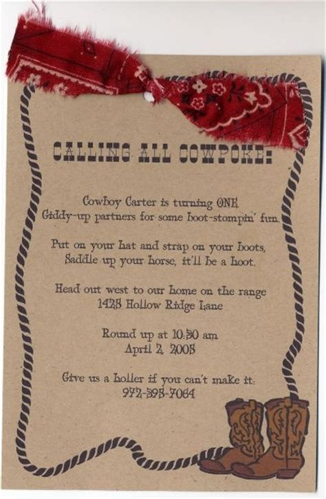 17 Best Ideas About Cowboy Party Invitations On Pinterest Cowboy Invitations Cowboy Party And West Invitation Template