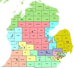 michigan congressional districts map michigan map