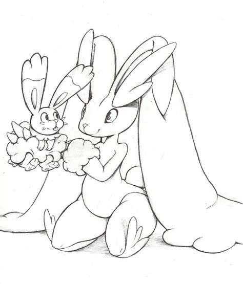 pokemon coloring pages bunnelby bunnelby and lopunny by mon311 on deviantart