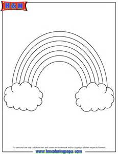 Rainbow Template by Rainbow Template Cutout Coloring Page H M Coloring Pages