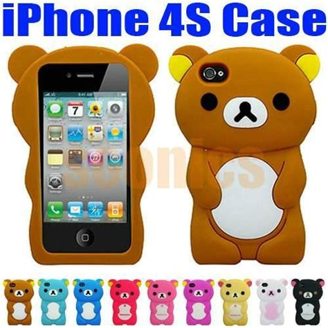Iphone 4 4s 4g Sulley 3d Casing Silicone Armor Bumper Tpu 3d teddy soft silicone back cover skin