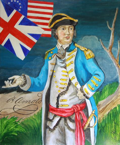 Wood And Metal Wall Decor Benedict Arnold Painting By Jan Mecklenburg