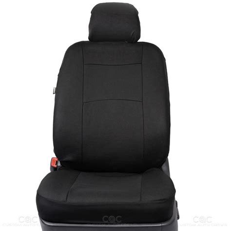 integrated headrest seat covers set black seat covers for car auto suv polyester