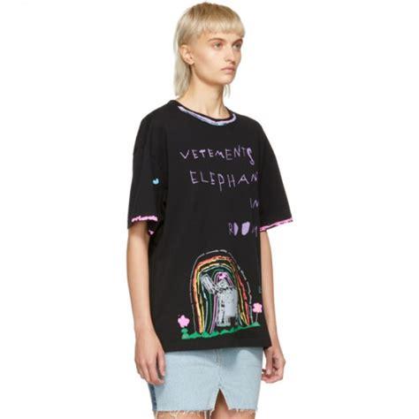 Nakedlily T Shirt Elephant Black vetements black elephant luis t shirt nqiifys