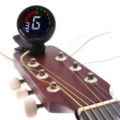 Tuner Gitar mini adjustable digital auto clip on chromatic guitar