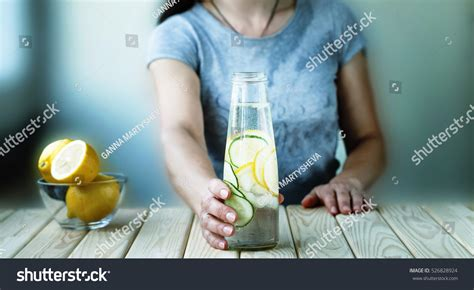 Detox Person by Detox Healthy Drinks Diet Detox Stock Photo
