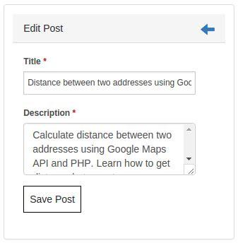 codeigniter tutorial for beginners codexworld cakephp tutorial edit blog post by codexworld codexworld