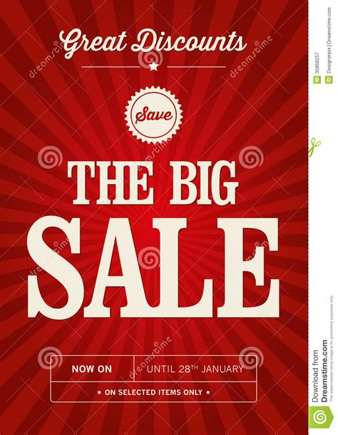 design poster sale vintage sale design royalty free stock photography image