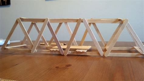 Popsicle Stick Suspension Bridge How To Make A Simple Beam Bridge Out Of Popsicle Sticks