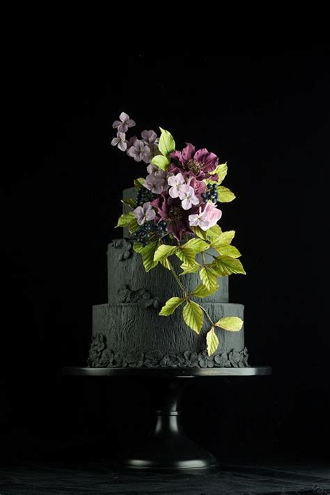 Black Wedding Cake Flowers by You To See Black Wedding Cake By Modernlovers