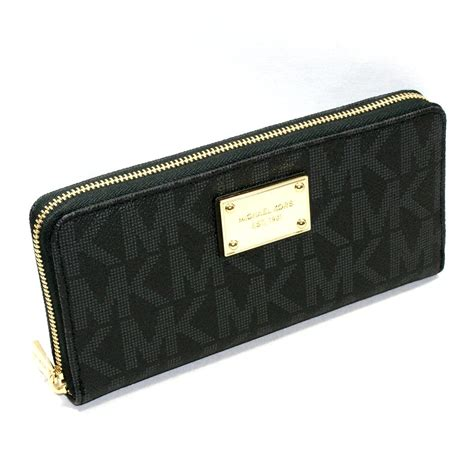 Michael Kors Jet Set MK Signature PVC Continental Wallet/ Clutch Black #32S12JSZ3B   Michael