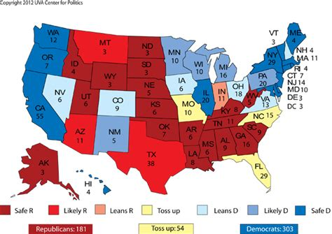 map us democratic vs republican january 2012 sabato s