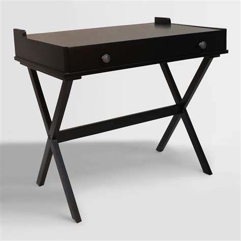 antique black wood dayana flip top desk world market