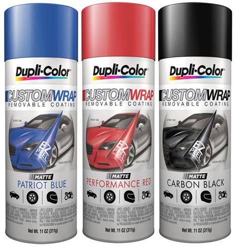 dupli color custom wrap removable coating 11 oz dupcwrcxxx series
