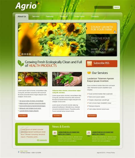 Templates For Agriculture Website | agriculture website template web design templates