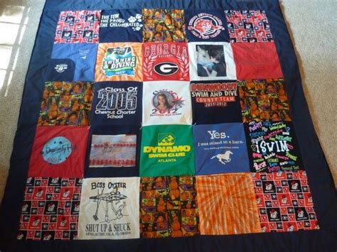 Race Shirt Quilt by Dunwoody High School Senior Goes To Uga Great Combination