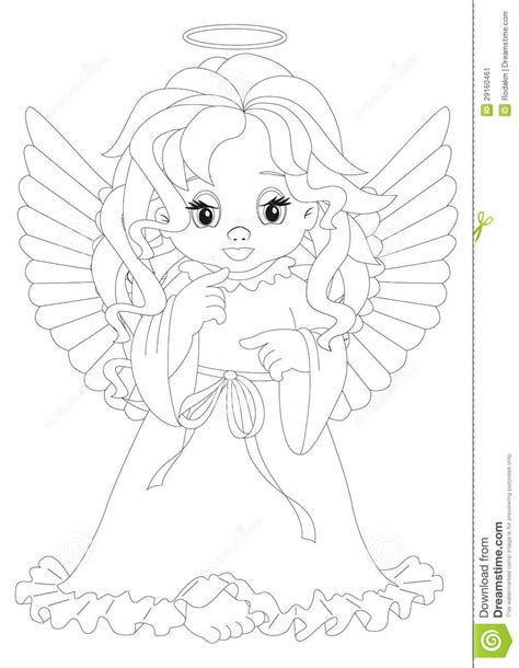 little angels coloring pages little angel coloring page stock image image 29160461