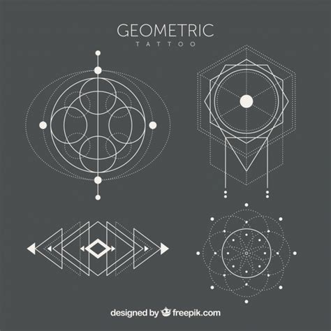 geometric tattoo vector pack of ethnic geometric tattoos vector free download