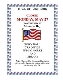 office closed sign template town offices closed in obervance of memorial day town of
