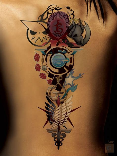 cool anime tattoos anime by gs alpha comm by proto jekt deviantart