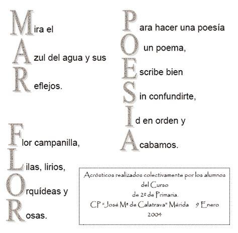 acrostico de la palabra en ingles espanol mis cosas de maestra acr 211 sticos