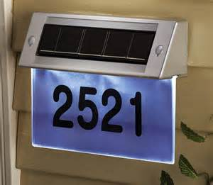 solar lighted address plaques solar lighted house number plaques most decorative