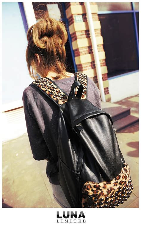 Ransel Motif Racoon Ada 4 Warna tas ransel import leopard model terbaru jual murah