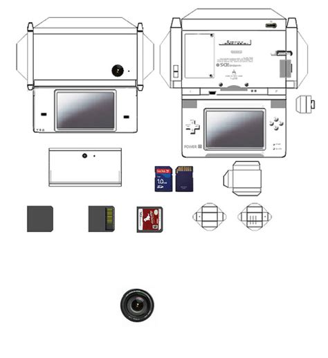 Nintendo Papercrafts - nintendo dsi papercraft updated version bunjination flickr
