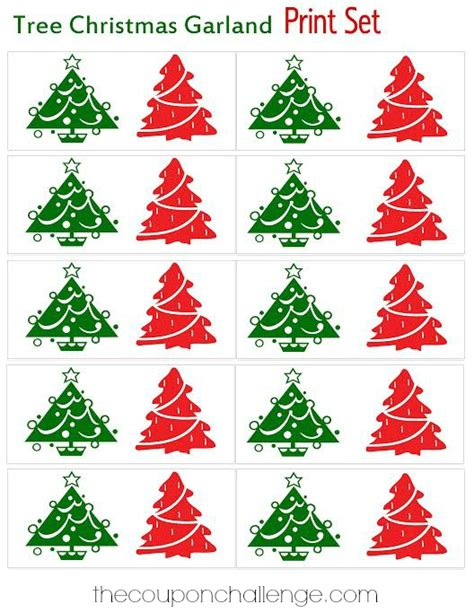 christmas tree glyph printable printable christmas tree garland