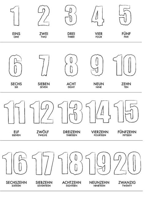 Le Numbers 1to 20 K2 german 1 20 numbers learning poster wall baby