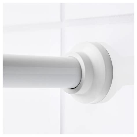 white shower curtain rod botaren shower curtain rod white 70 120 cm ikea