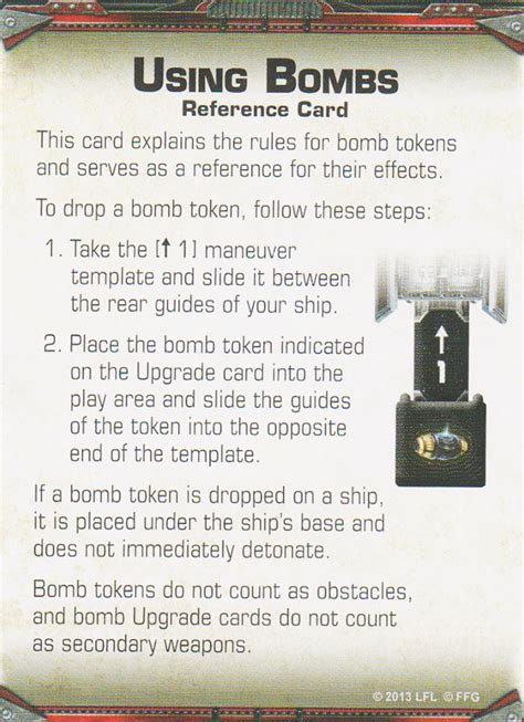 x wing upgrade card template using bombs reference cards reference cards x wing