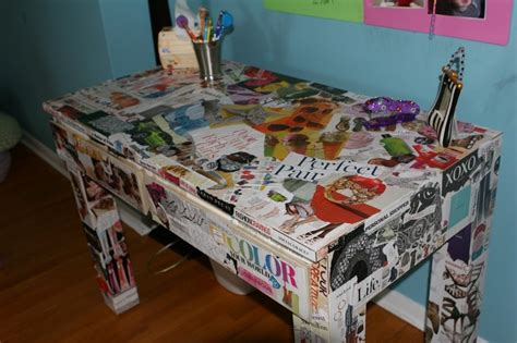 Decoupage Desk - image detail for decoupage desk project for tweens and