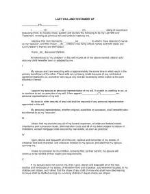 Free Will Writing Template Uk by Best Photos Of Printable Last Will And Testament Format