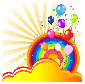 colorful balloons colorful balloon and rainbow free vector 4vector