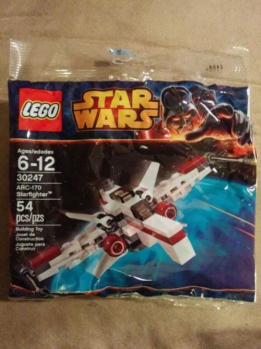 Lego Wars Arc 170 Starfighter 30247 Polybag Segel Ori 30247 arc 170 starfighter polybag found in canada fbtb