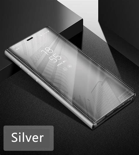 Samsung Galaxy S7 Silver Iron Light Smartcase Flipc Murah phone luxury intelligent mirror flip clear view smart for kaaum