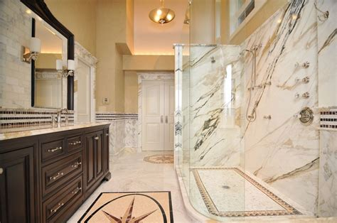 calacatta gold marble bathroom traditional master bathroom with flush by signature design zillow digs zillow