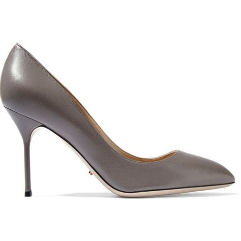 gray high heel shoes sergio leather pumps 3 901 325 idr liked on