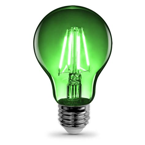 feit electric 3 6 watt green a19 filament led light bulb