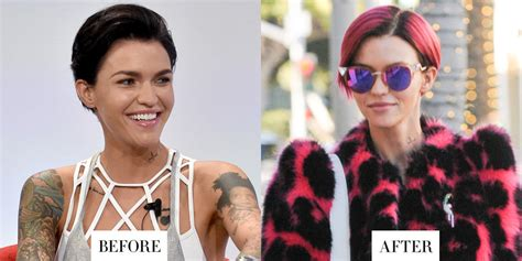 Ruby Rose Before After Haircuts | ruby rose before after haircuts ruby rose haircut