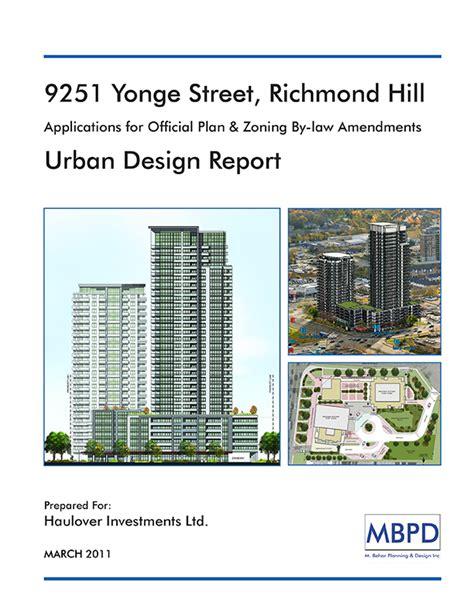 urban design brief template 9251 yonge street richmond hill mbpd