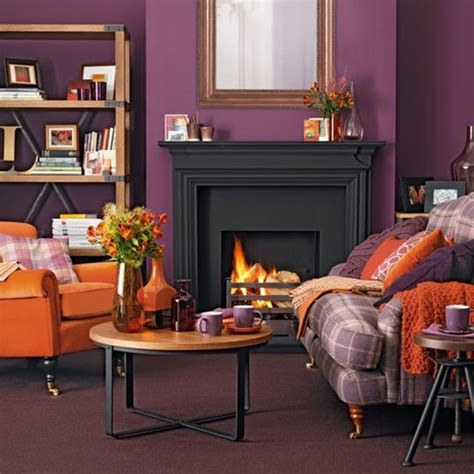 color combo purple orange apartment therapy