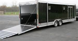 awning for cer trailer touch of class trailers 26 black aluminum race car