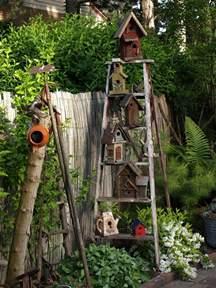 outdoor garden decorations made of wooden ladders wooden ladder old ladder yard idea ladder idea ladder
